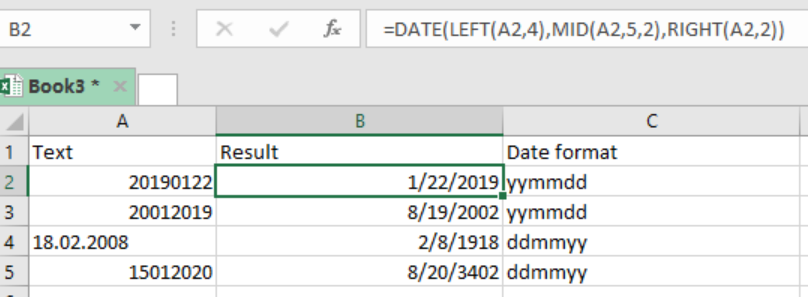 Excel formula: Convert text to date - Excelchat