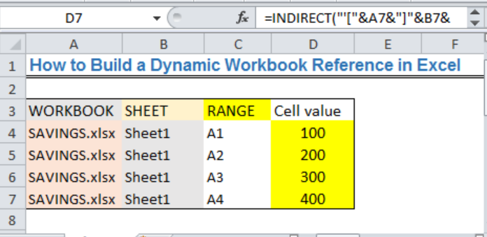 Excel formula: Dynamic workbook reference - Excelchat