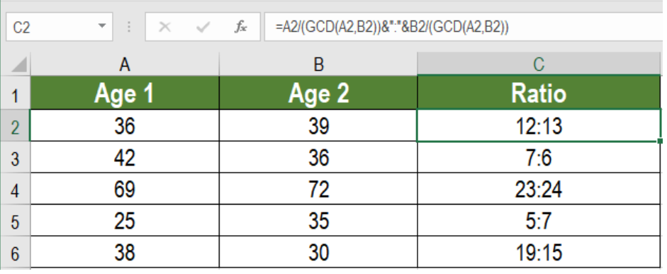 find ratio between two numbers excel لم يسبق له مثيل الصور + E-FRONTA.INFO
