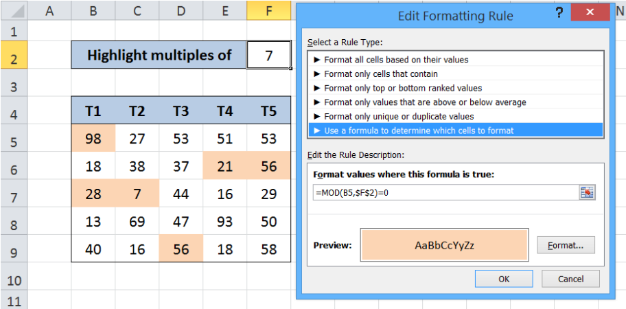 How to highlight dates in the next N days in Excel