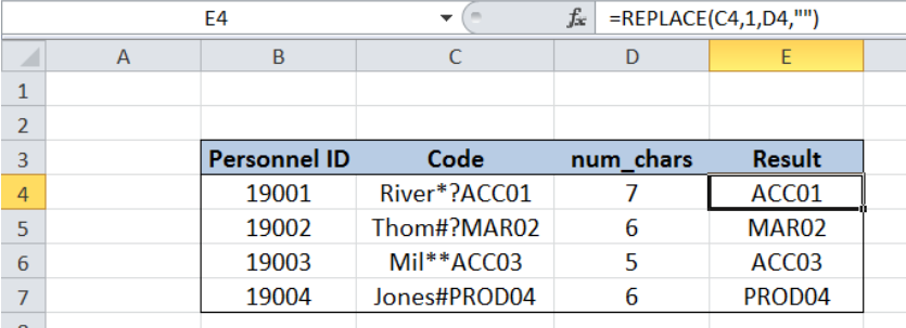 Excel formula: Remove characters from left