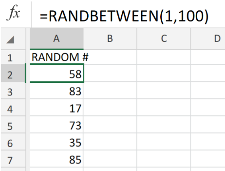 Excel formula: Random number between two numbers - Excelchat