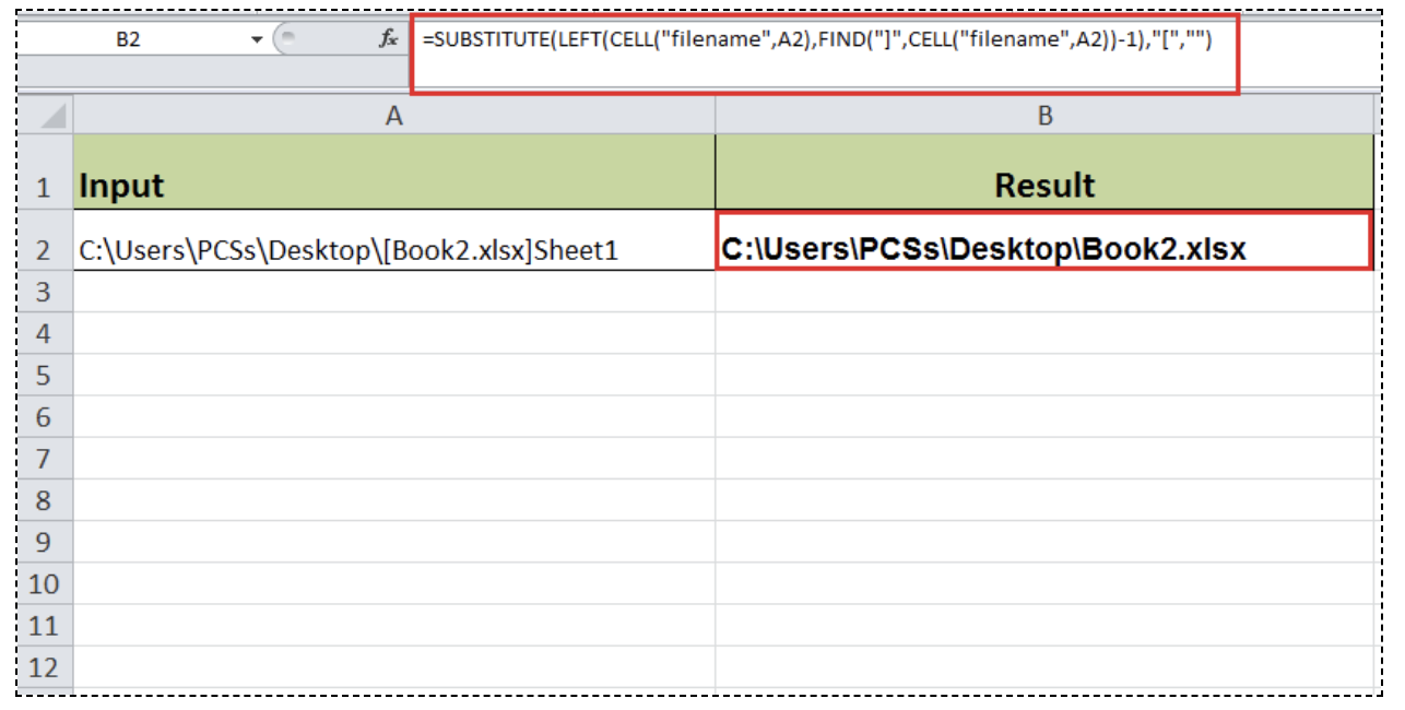Excel formula: Get workbook name without sheet - Excelchat