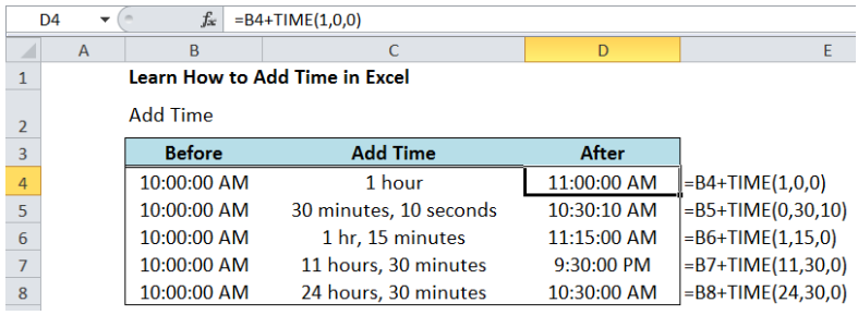 Learn How to Add Time in Excel | Excelchat