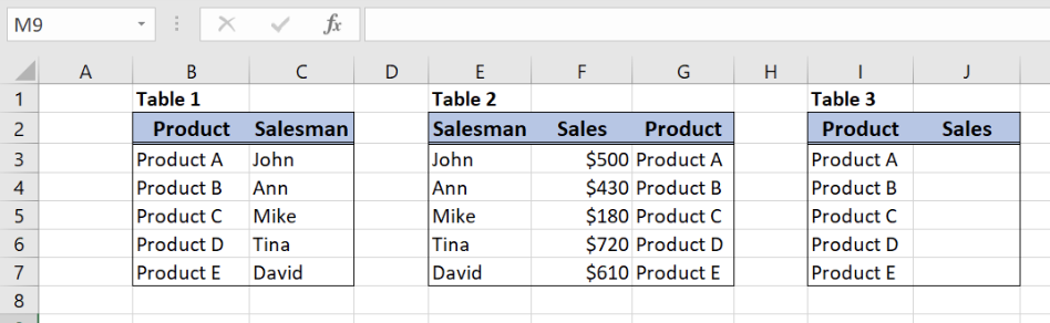 Nested VLOOKUP Formula Examples   Excelchat