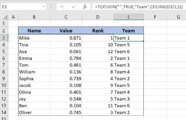 Learn How to Make a Random Pairing Generator in Excel