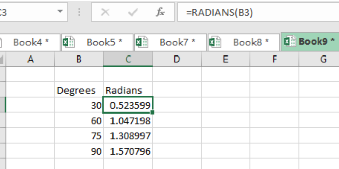 Does the Excel SIN Function Return Radians or Degrees