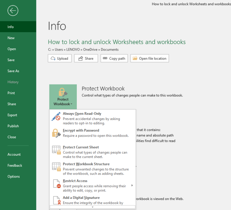 How To Lock And Unlock Worksheets And Workbooks In Google