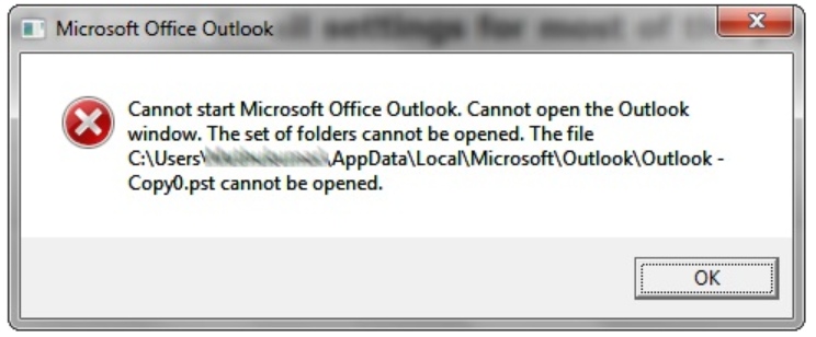 How to Fix 'Cannot start Microsoft office Outlook and cannot open