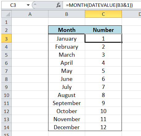 Convert Month Name to Number in Excel | Excelchat