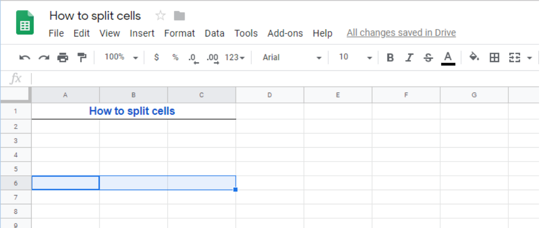 How to Split Cells and Split Text to Columns and Rows in Google Spreadsheet    Excelchat