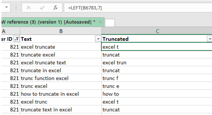 How to truncate text in Excel - Excelchat | Excelchat