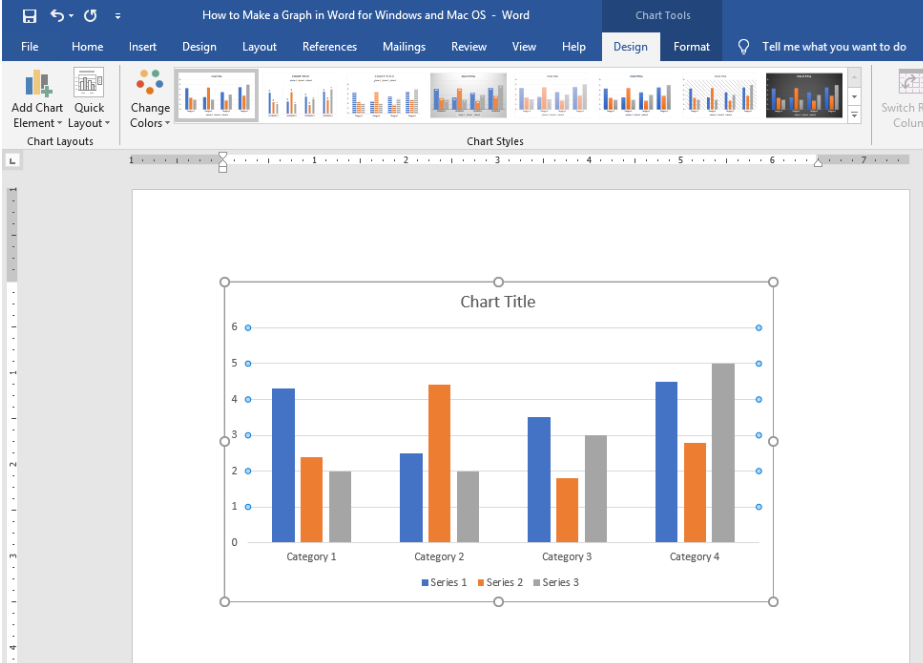 How To Make A Graph In Word For Windows And Mac O S Excelchat Excelchat
