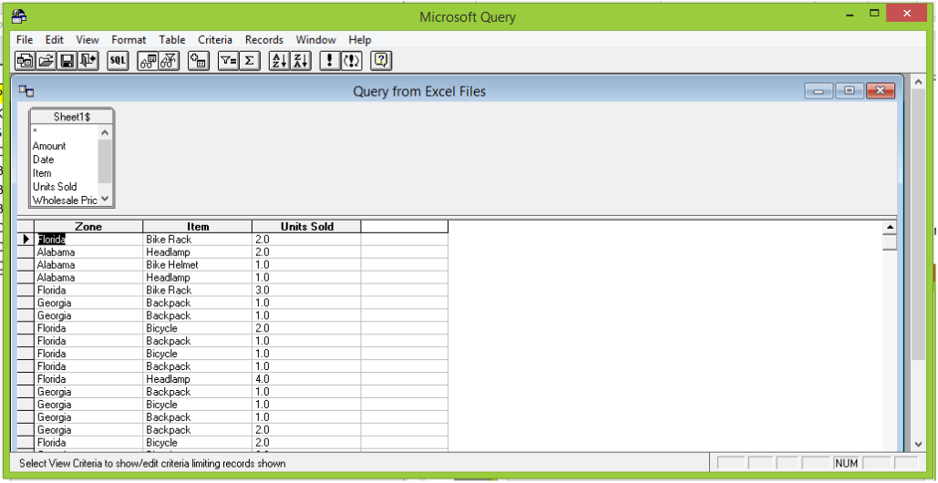 How to create a Microsoft query in excel - Excelchat | Excelchat